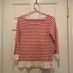 Jcrew Striped Boatneck Shirt